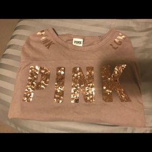 Victoria's Secret PINK rose gold bling